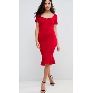 NWT Asos Club London Scuba Sweetheart Midi Dress♥️